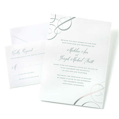 Gartner Studios® 50-Count Foil Swirls Invitation Kit in Silver
