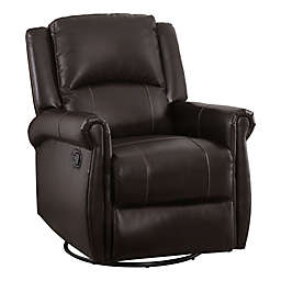 Abbyson Living® Emily Nursery Swivel Glider Recliner in Dark Brown