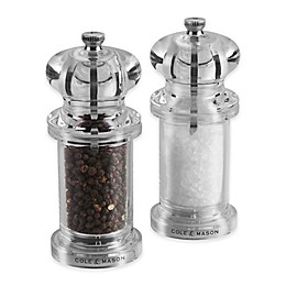 Cole & Mason Plastic 2-Piece 505 Salt/Pepper Mill Set in Clear