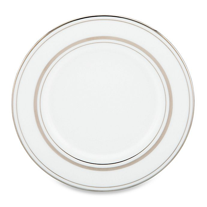 Alternate image 1 for kate spade new york Library Lane Platinum™ Saucer