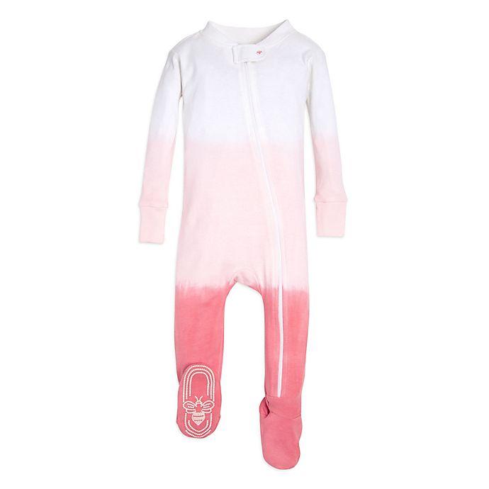 Alternate image 1 for Burt's Bees Dip Dye Baby Girl Newborn Sleeper in Pink