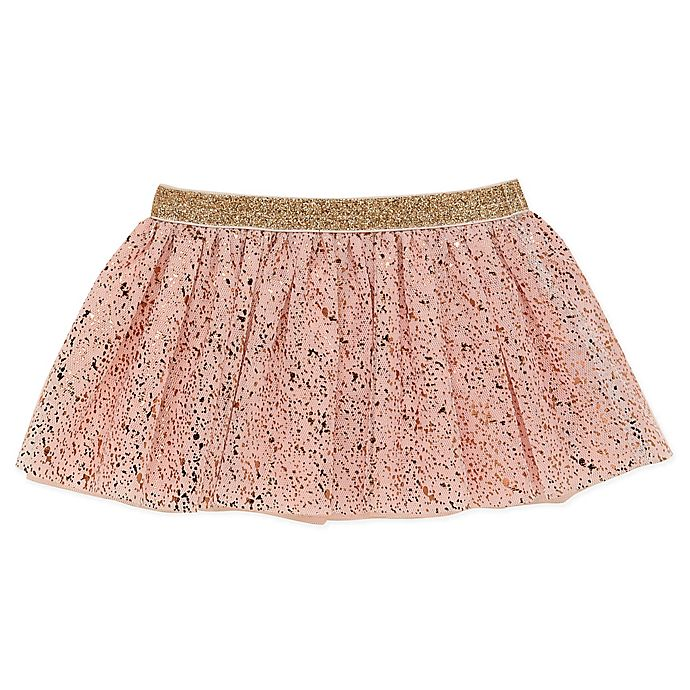 Alternate image 1 for Baby Starters® Splatter Print Tutu in Pink/Rose Gold