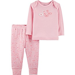 Little Planet™ Organic by carter's® 2-Piece Swans Pajama Set in Pink