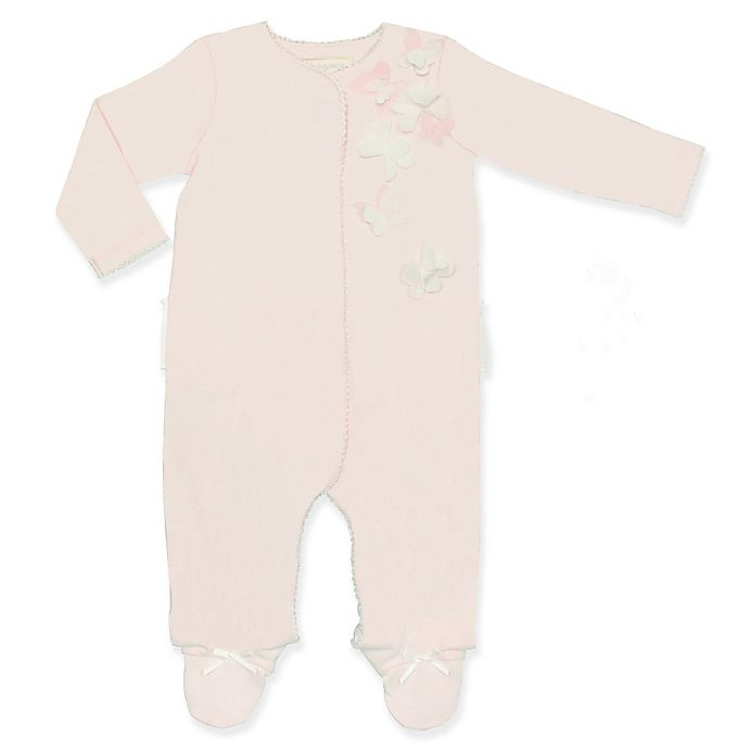 Alternate image 1 for Clasix Beginnings® Footed Coverall in Pink