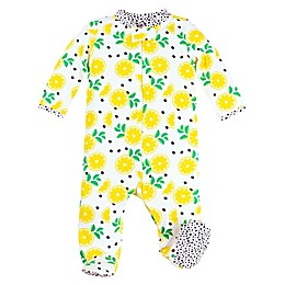 Lamaze® Lemons Organic Cotton Footie in White