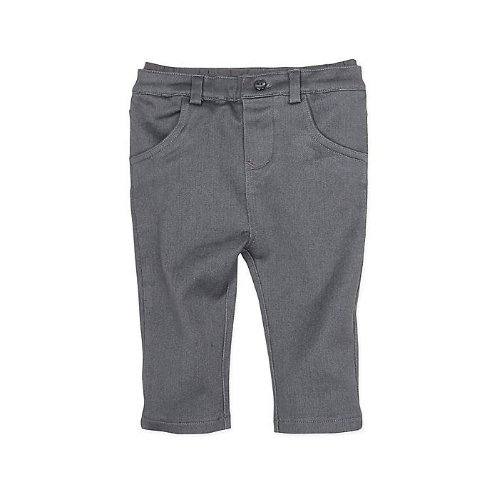 Alternate image 1 for Robeez® Girl's Soft Denim Jean in Grey
