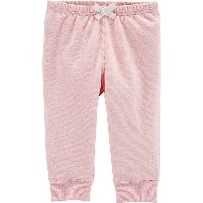 Alternate image 1 for carter's® Pull-On Pant with Bow in Pink