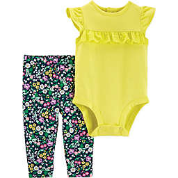carter's® 2-Piece Flutter Bodysuit and Pant Set in Yellow
