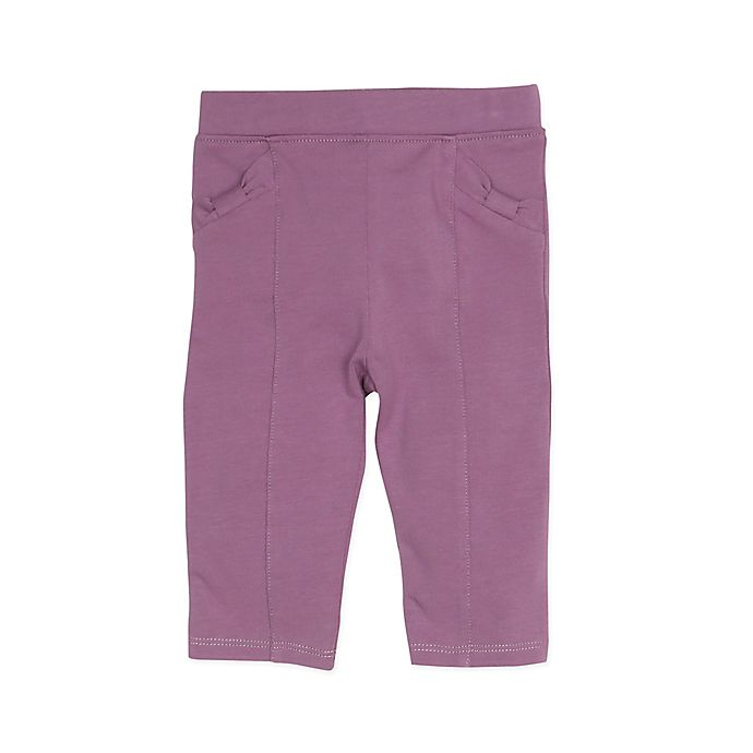 Alternate image 1 for Robeez® 18-24 months Girl's Structured Pant in Mauve