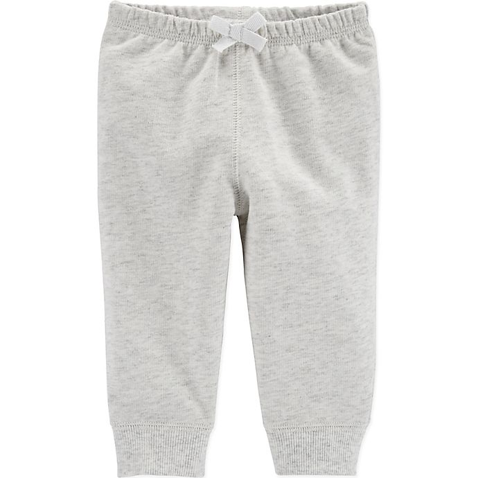 Alternate image 1 for carter's® Bow Pull-On Pant in Heather Grey