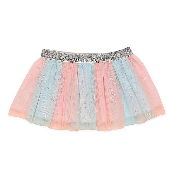 Alternate image 1 for Baby Starters® Sparkle Tutu Skirt in Teal/Coral