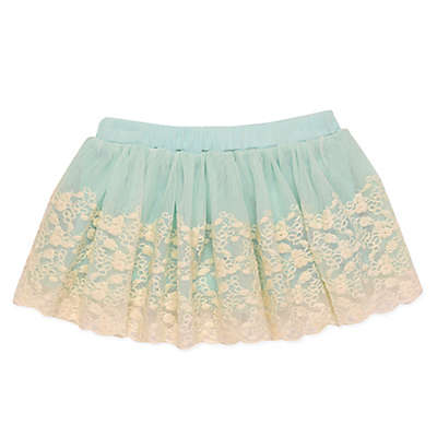 Baby Starters® Tutu Skirt with Embroidered Lace Overlay in Mint