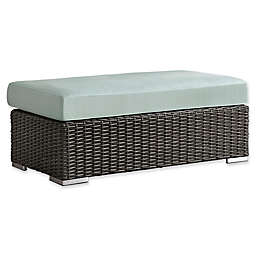 Verona Home Brescia Rattan Patio Cocktail Ottoman