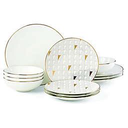 Lenox® Trianna White™ 12-Piece Dinnerware Set