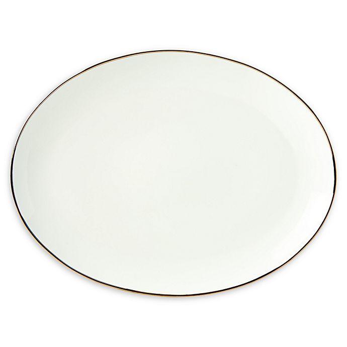 Alternate image 1 for Lenox® Trianna White™ 14.5-Inch Oval Platter