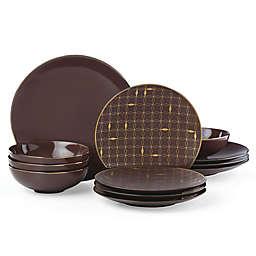 Lenox® Trianna Merlot™ 12-Piece Dinnerware Set