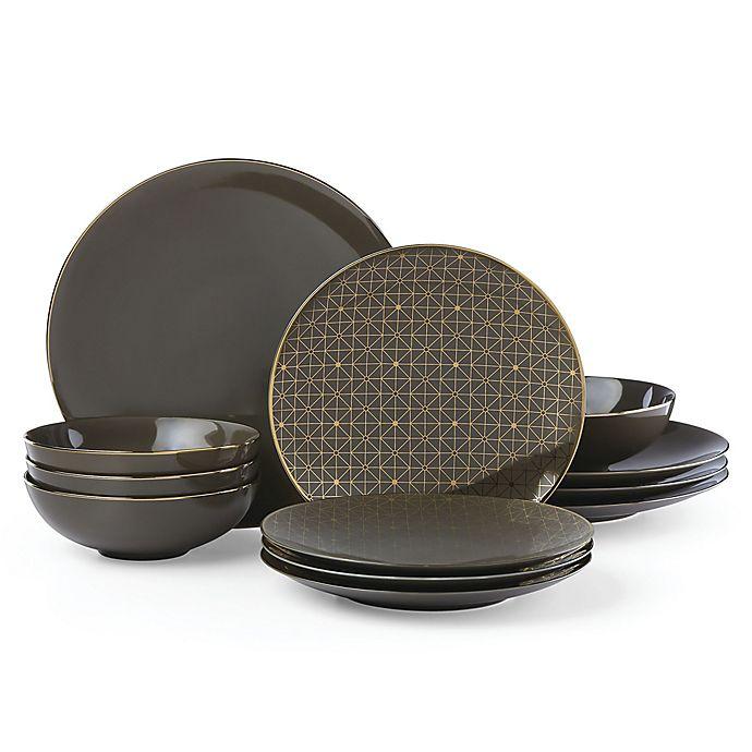 Alternate image 1 for Lenox® Trianna Slate™ 12-Piece Dinnerware Set