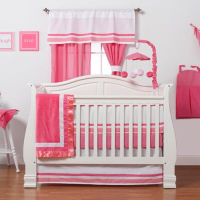 One Grace Place Simplicity Hot Pink Crib Bedding Set