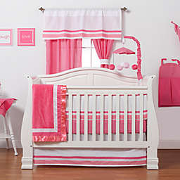 One Grace Place Simplicity 3-Piece Crib Bedding Set in Hot Pink