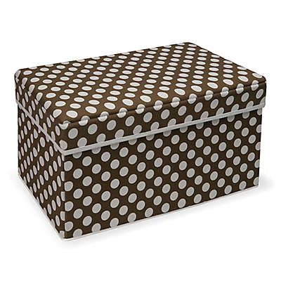 Badger Basket® Polka Dot Double Storage Seat in Brown