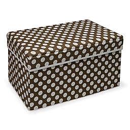 Badger Basket® Polka Dot Double Storage Seat in Brown