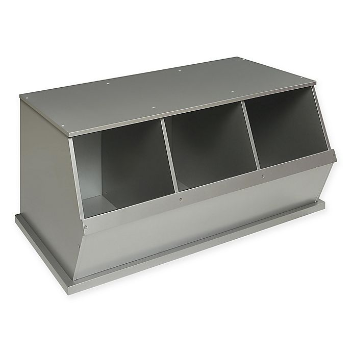 Alternate image 1 for Badger Basket Three Bin Stackable Storage Cubby