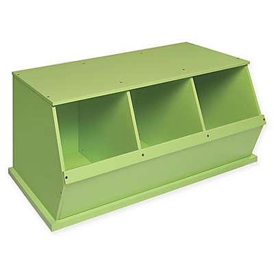 Badger Basket Three Bin Stackable Storage Cubby