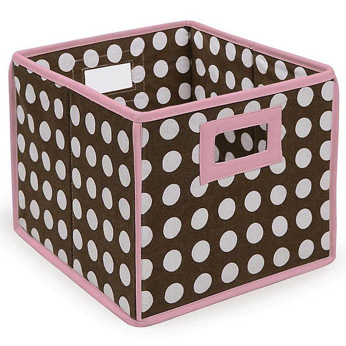 Alternate image 1 for Badger Basket Medium Polka Dot Folding Storage Cube