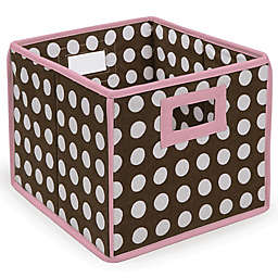 Badger Basket Medium Polka Dot Folding Storage Cube