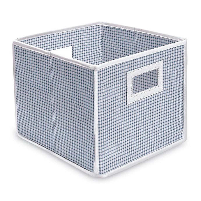 Alternate image 1 for Badger Basket Medium Gingham Folding Storage Cube