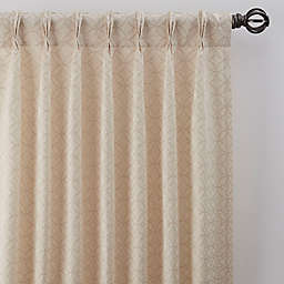 Boratta Geo 108-Inch Pinch Pleat Window Curtain Panel in Silver Blue