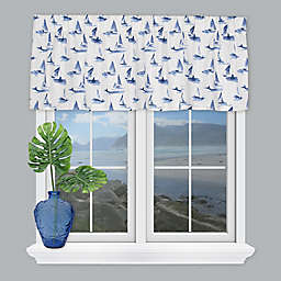 Coastal Living® Sailboats Tailored Window Valance in Blue