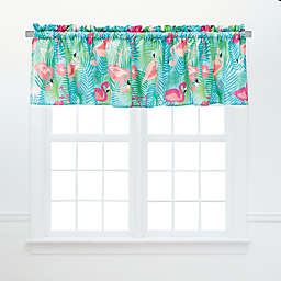 Isla Tropical Ruffled Valance Pair in Blue