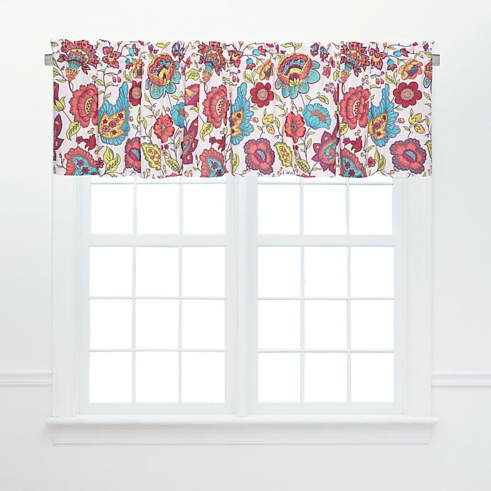 Alternate image 1 for Teagan Ruffled Window Valance Pair in Pink