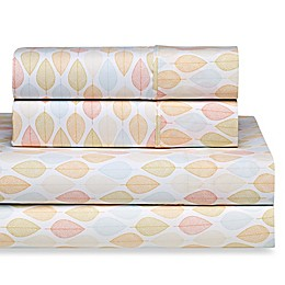 Home Collection Fall Foliage Twin Sheet Set in Yellow