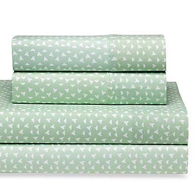 Home Collection Urban Arrows Queen Sheet Set in Jade