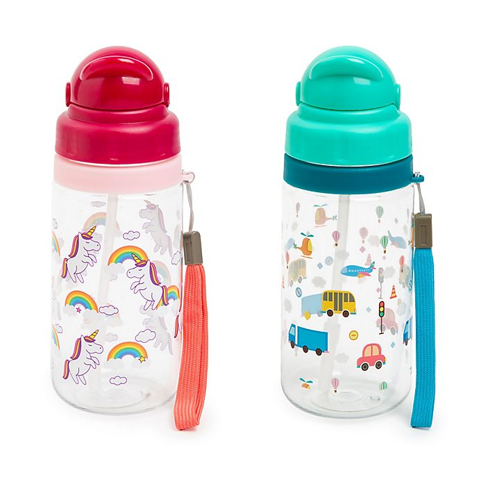 Alternate image 1 for Manna™ Ollie 18 oz. Water Bottle with Straw Collection