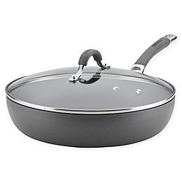 Circulon Radiance 12-Inch Nonstick Hard-Anodized Covered Deep Skillet in Grey