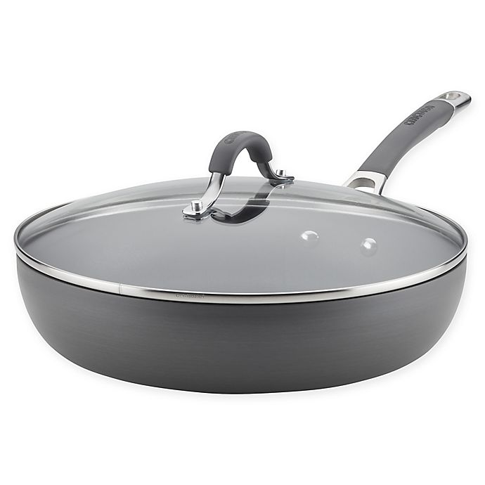 Alternate image 1 for Circulon Radiance 12-Inch Nonstick Hard-Anodized Covered Deep Skillet in Grey