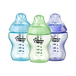 Tommee Tippee Closer to Nature 3-Pack 9 oz. Color My World Baby Bottle in Blue Assortment