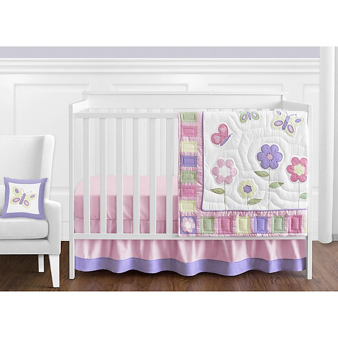 Alternate image 1 for Sweet Jojo Designs Butterfly 11-Piece Crib Bedding Set in Pink/Purple