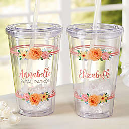 Flower Girl Personalized Acrylic Insulated Tumbler
