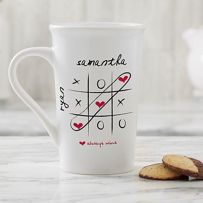 Alternate image 1 for Personalized Love Always Wins 16 oz. Latte Mug