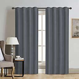 Therapedic® Carlisle Velvet 84-Inch Rod Pocket 100% Blackout Window Curtain Panel in Steel Blue