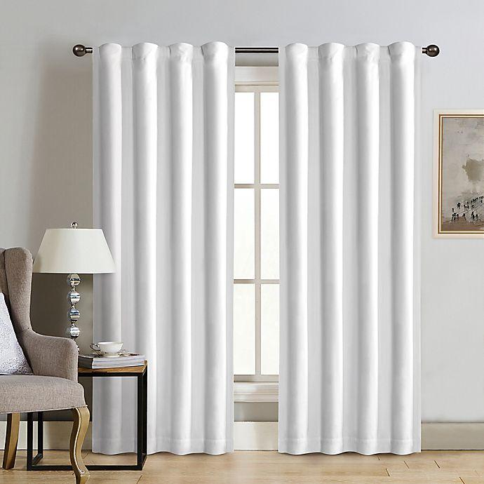 Alternate image 1 for Therapedic® Carlisle Velvet Rod Pocket 100% Blackout Window Curtain Panel