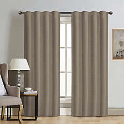 Therapedic® Carlisle Velvet 63-Inch Rod Pocket 100% Blackout Window Curtain Panel in Taupe