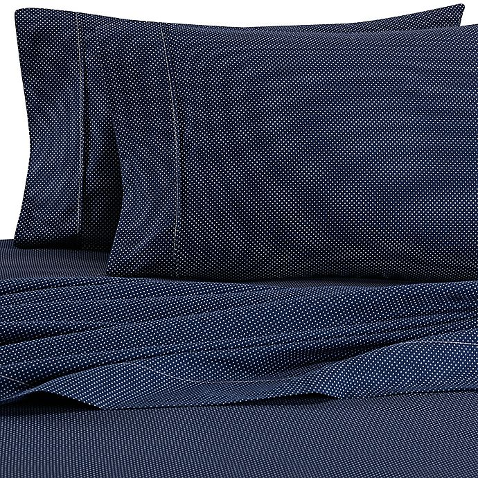 Alternate image 1 for Home Collection My Heart Twin Sheet Set in Navy