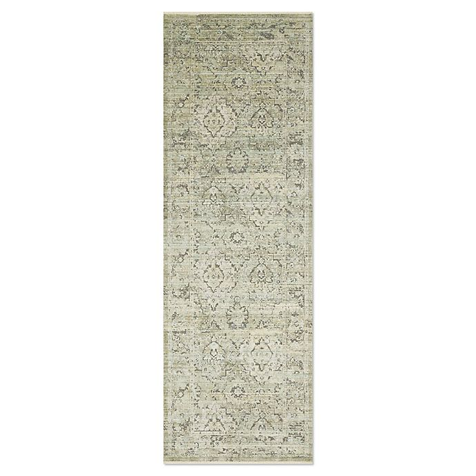 Alternate image 1 for Magnolia Home by Joanna Gaines Ophelia 2'6 x 10' Runner in Pistachio/Grey