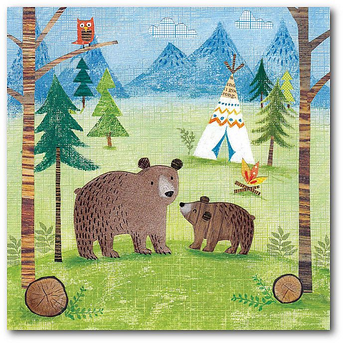 Alternate image 1 for Courtside Market™ Woodland Family Bears 16-Inch x 1.5-Inch Framed Wrapped Canvas