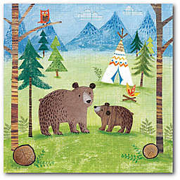 Courtside Market™ Woodland Family Bears 16-Inch x 1.5-Inch Framed Wrapped Canvas